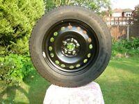 Firestone Tyre 195.65 R15 91V on 5 stud steel wheel - New - Never been used