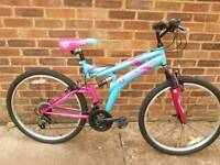 Ladies medium size full suspension mountain bike.