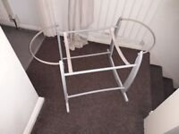 Fors sale is high chair, bumbo seat with play matt,moses basket and stand, baby bath