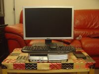 Intel Core 2 Duo Computer with Dell Monitor , Logitech Wireless keyboard and mouse