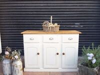SOLID PINE PAINTED SIDEBOARD SHABBY CHIC
