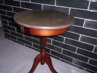 Vintage serving table, coffee table, bistro table.