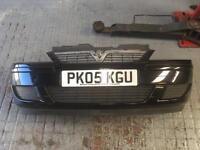 Vauxhall corsa C front bumper in black - breaking spare parts