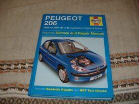 Haynes 206 Peugeot Service & Repair Car Manual Book
