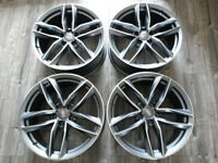 """BRAND NEW 19"""" INCH ALLOY WHEELS R19 ALLOYS AUDI A3 A4 A5 S3 S5 A6 RS3 RS4 RS6 BLACK EDITION STYLE"""