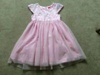 Girls Pink Party/Summer Dress Aged 6-7yrs, 122cms