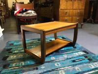 Retro teak coffee table vintage side end nest of danish
