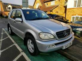7 Seater 51 Reg Mercedes-Benz ML270 in Silver Colour with Parking Sensors