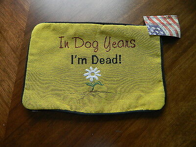 Подушка In Dog Years I'm Dead