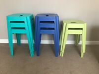 8 x METAL STOOLS ... NEW ... (PRICE FOR ALL 8) ....TORQUAY