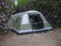 Outwell Montana 6 Tent with carpet, plus Awning (Excellent Condition) - 6 man tent
