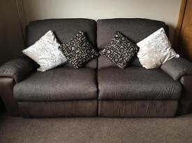 3 Seater & 2 Seater Brown Sofas