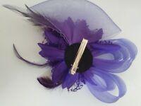 Beautiful Purple Fascinator used once