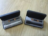 Mini Maglite Torch - New / Unused with Box and Batteries - Choice of 2 - Silver or Black