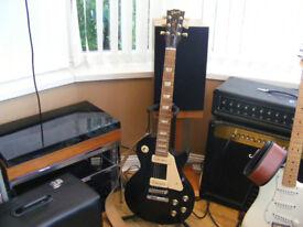2010 Gibson Les Paul Studio '60s Tribute Electric Guitar Ebony Black