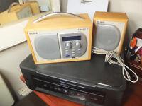 DAB Radio Pure Digital Tempus -1 and speaker