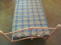 Girls pink bed with mattress for sale good condition.
