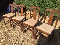 4 x Oak Chairs Stunning