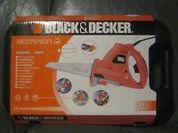 Black and Decker Scorpion saw KS 890EK HOGB, 3 blades, hard case, new sealed box