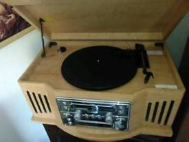 Vintage style stereo recocord player