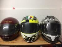 Motorbike helmet job lot