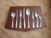 Smith Seymour Ltd 44 piece silver plate cutlery set.