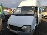 Ford transit 1995 year parts engine gearbox axel prop shaft wheel door light bumper
