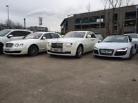 WEDDING SELF DRIVE CAR HIRE PRESTIGE CHAUFFEUR HIRE LIMOUSINE LIMO PHANTOM HIRE
