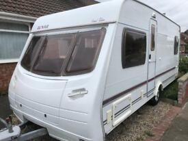 4 berth fixed bed lunar special edition. 2004 with mover. Bargain. Cheap. I can deliver. Offers