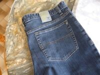 one men's quality streatch denim jeans & two black trousers 36 inch waist long length , brand new,