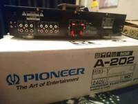 Pioneer amplifier Model A-202 in black
