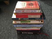 Large selection of quality hardback cookery books.