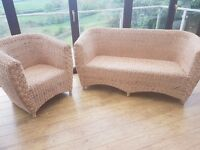 Conservatory sofa and tub chair