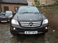 MERCEDES BENZ ML320 CDI SPORT SAT NAV, BLUETOOTH, FSH, ONLY 3 PREV OWNERS, BLACK WITH HALF LEATHER