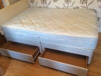 DOUBLE 4 DRAWER DIVAN BED WITH MATTRESS