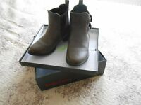 EMILIO LUCA LADIES FASHION PULL-ON ANKLE BOOTS ... KENSINGTON BROWN SIZE 4 (37) AS NEW