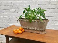 Geometric Cast Iron Urn Mantle Vase #346