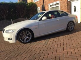 2010 lci 320d msport coupe manual alpine white + red leather