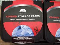 20 X CD / DVD 40 DISC STORAGE CASES