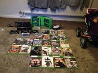 Xbox 360 with Kinect 3 controllers and 22 games
