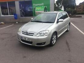 BRAND NEW MOT TOYOTA COROLLA 1.6 VVTI PETROL MANUAL 5DR HATCH FSH 2006(56)