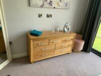 Solid oak chest of drawers, used for sale  Newport