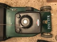 Large hayter harrier 48 self propelled petrol roller lawn mower Briggs and Stratton engine