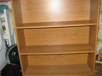 BOOKCASE. WOOD EFFECT. GOOD AND STURDY. COLLECTION ONLY