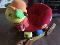 Mamas and papas ride on snail