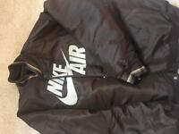 Nike Air large Brown Tan Bomber Jacket