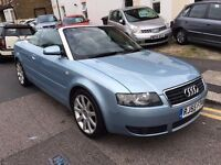 AUDI A4 1.8 TURBO SPORT 2005 AUTOMATIC CONVERTIBLE, 1 FORMER OWNER,MINT,8 STAMPS,LOW MILEAGE!