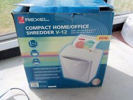 REXEL V-12S HOME/SMALL OFFICE SHREDDER