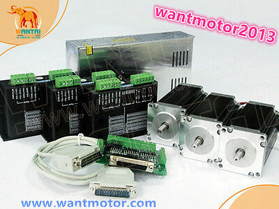 Usa Free3axis Nema23 Stepper Motor Wt57sth115-4204a 425oz-indriver 4.2a 50vcnc