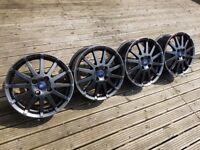"16"" Ford Fiesta Zetec S Refurbished One Off Show Alloys Powder Coated 4x108"